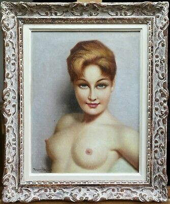 Robert Duflos (1898-1960) Large Signed French Oil On Canvas - Nude - Beautiful