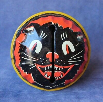 Vintage Life of the Party - Deco Cat - Halloween Noise Maker 1950s - Tin