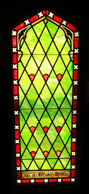 19th Century Leaded and Stained Glass Window