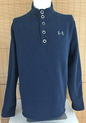 Under Armour Mens Large Blue Coldgear Storm Specialist Sweater Loose