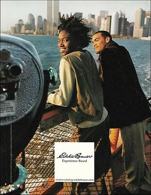 Eddie Bauer 2000 ad with NYC World Trade Center WTC Twin Towers Skyline Pre-9/11
