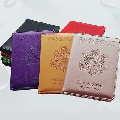 Leather Passport Case Holder RFID Blocking Travel ID Credit Card Wallet_Cover