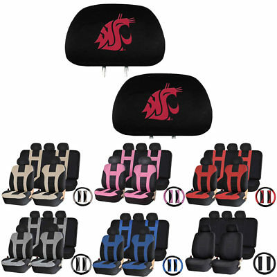 the best attitude 234fa 0254c 14PC Universal-fit Seat Cover Steering Set for NCAA Washington State  Cougars Fan