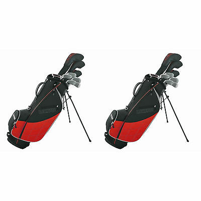 Wilson Ultra Men's Complete Right Hand Golf Club Set & Stand, Red (2 Pack)