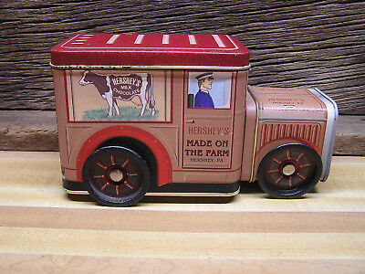 1997 Hershey's Red Truck Tin Canister