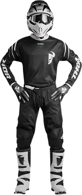 YOUTH Thor Sector Zones- Black Gear Combo 24/Y-M Motocross ATV Offroad
