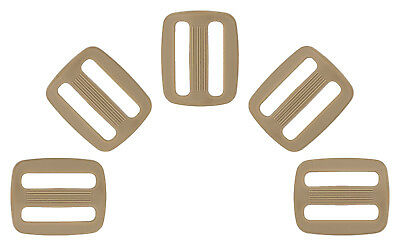 100 - 1 Inch Coyote Tan Plastic Triglide Slides