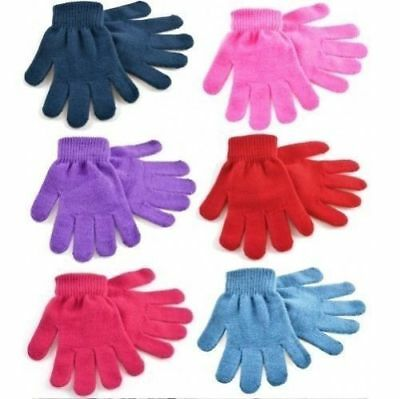 2 Pairs of Kids Girls Boys Childrens Toddlers MINI MAGIC Winter Stretch Gloves