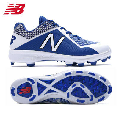 New Balance 4040v4 Molded Low Adult Men's Baseball Cleats Royal/White PL4040D4