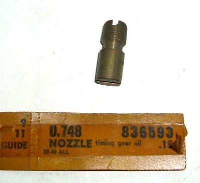 Nos 1932-1948 Chevrolet Passenger Car Truck Engine Timing Gear Oil Nozzle 836593
