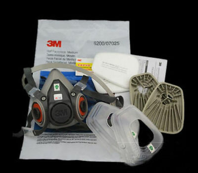 7 in 1 mask Suit half Face For 3M 6200 Gas Spray Painting Protection Respirator