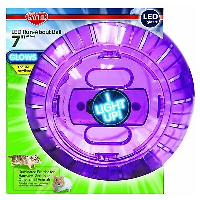 Kaytee Run-About Ball LED Lighted 7 inch Diameter Toy for Hamsters, Gerbils
