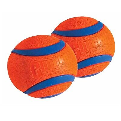Chuckit! Dog Fetch Toy ULTRA BALL Durable Rubber Fits Launcher LARGE 2 PACK