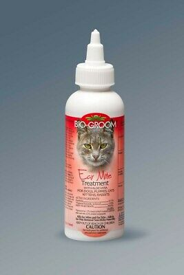 Bio-Groom Natural Ear Mite Treatment 4 oz | Aloe Vera | For Pets of All Ages