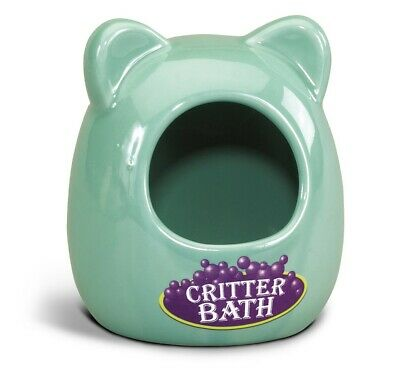 Kaytee Ceramic Critter Bath | Durable Wash House for Small Animals
