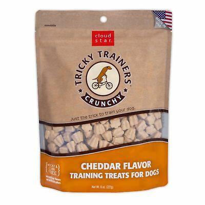 Cloud Star Tricky Trainers Crunchy Cheddar 8 ounce   Treats for Dogs