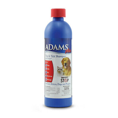Adams Plus Flea and Tick Shampoo with Precor 12 oz | For Dogs & Cats of All Ages