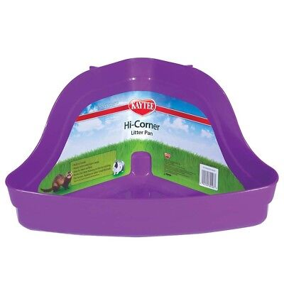 Kaytee Hi-Corner Litter Pan | Plastic Tray for Small Animal Waste