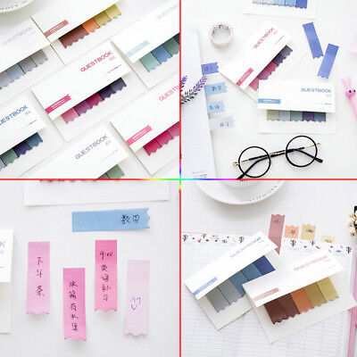 100 Pages Sticky Notes Office Bookmark Memo Marker Index Flags Tab Strip Sticker