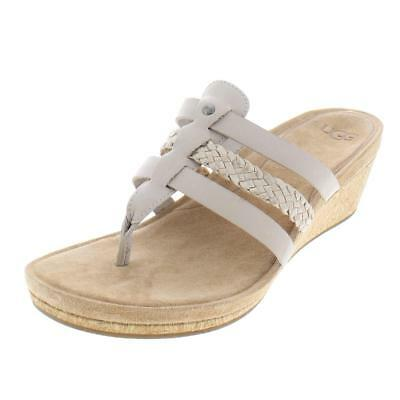 7fc6aa0d871 UGG 1016660 HRC Women's Maddie Horchata Wedge Flip Flop Sandals New ...