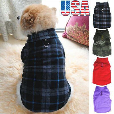 Pet Dogs Fleece Jumper Knitwear Winter Coat Puppy Chihuahua Warm Sweater Clothes