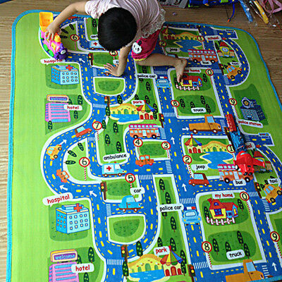 Kids Carpet Road Traffic Playmat Rug City Life Great For Playing