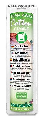 Madeira Stickvlies  COTTON STABLE - weiß Artikelnr. 9438 (Rolle 30 cm x 5 m)