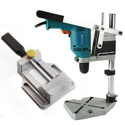 Plunge Power Drilling Stand Bench Pillar Pedestal Clamp + Drill Press Vice