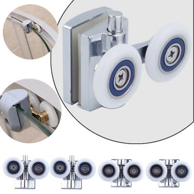 Shower Door Wheels Heavy Duty Zinc Alloy Twin Top Bottom Rollers Runners 4PCS