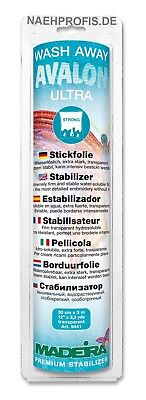 Madeira Stickvlies  AVALON ULTRA - transparent Artikelnr. 9441 (Rolle 30cm x 3m)