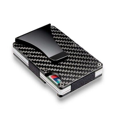 Men RFID Blocking Slim Money1 Clip Wallet Credit Card ID Holder Thin Minimalist