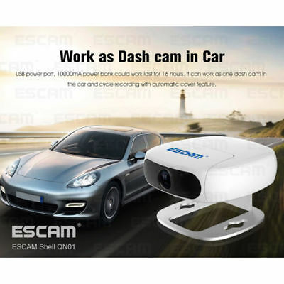"ESCAM Mini WIFI HD IP Camera 1/3"" CMOS Sensor IR Cut Night Vision Car Dash Cam"