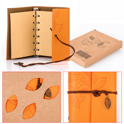 Vintage Retro Style Notebook Diary Leaf Travel Leather Journal Sketchbook Gift