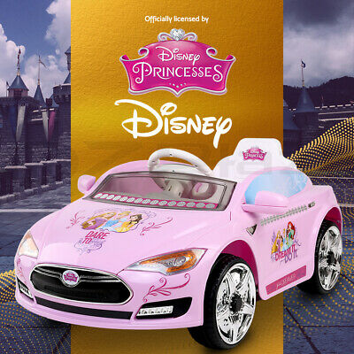 Disney Kids Ride On Car Electric TESLA Style Princess Toys Cars Children Battery