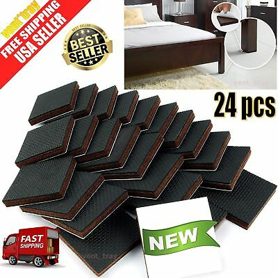 Non-Slip Furniture Pads Protector 24pcs Adhesive Grippers Rubber Feet Table Sofa