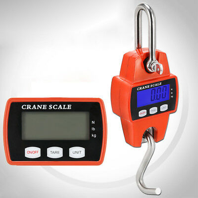 300kg/600lb  Heavy Duty Digital Crane Scale Weighing Luggage with Mini Hook