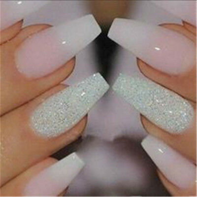 100Pcs Clear French Art Nail Tips Finger Fake False Acrylic UV Gel Manicure CB