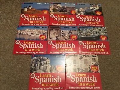 LEARN SPANISH IN A WEEK Linguaphone No Reading Effort Parts Discs Audio CD Book