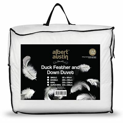 Luxury Duck Feather Down Duvet Comfortable Filling Quilt Bedding 13.5 - 15 Tog