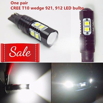 NEW 2x 50W CREE 921 912 T10 T15 LED 6000K HID White Backup Reverse Lights AW