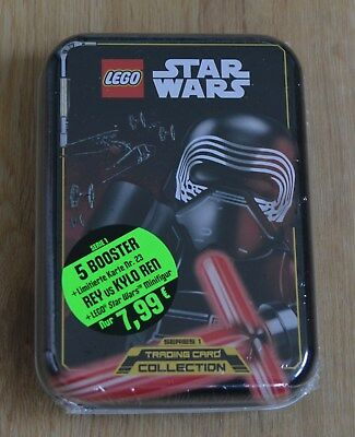 Lego® Star Wars™ Serie 1 Trading Card Game Mini Tin Kylo Ren LE23 + 5 Booster