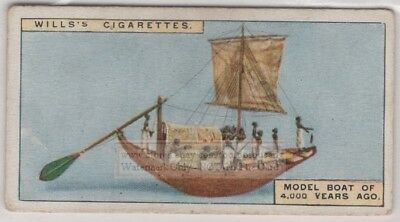 Model of Ancient Egyptian Nile Sail Boat In Tomb 90+ Y/O Ad Trade Card