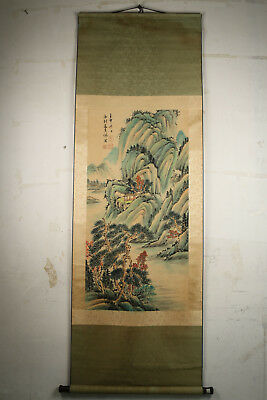 collectable Old Exquisite Handpainted Artistic Conception Landscape Scrolls