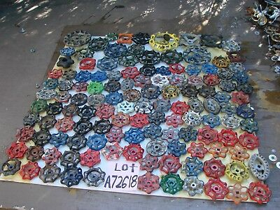 Lot 130 Vintage Metal water Faucet Knobs valve handles STEAMPUNK arts and crafts