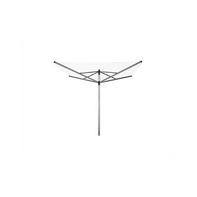 Brabantia Lift-O-Matic Rotary Airer Washing Line with 45 mm Metal Soil Spear, 40
