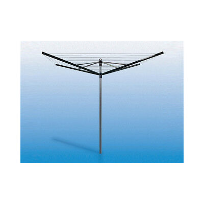 Brabantia Lift-O-Matic Rotary Airer Washing Line with 45 mm Metal Soil Spear, 50