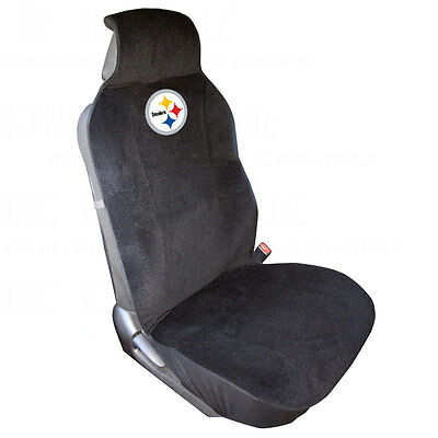 Brand New NFL Pittsburgh Steelers Car Truck SUV Van Front Sideless Seat  Cover e6d649faf