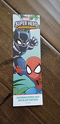 2018 Sdcc Comic Con Marvel Black Panther Spider-Man Ms Squirrel Promo Bookmark
