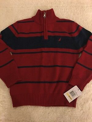 Boys Nautical Sweater NWT Half Zip Small 5-6