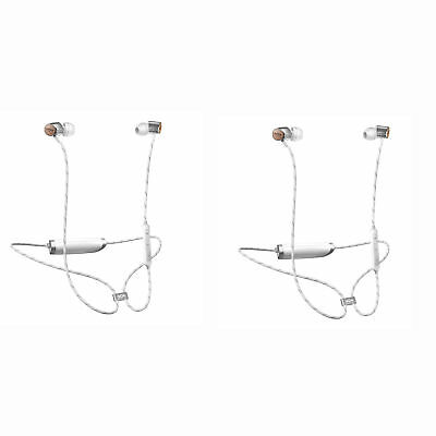 ac857ceef56 House of Marley Uplift 2 Wireless Rechargeable Audio Earphones, Silver (2  Pack)